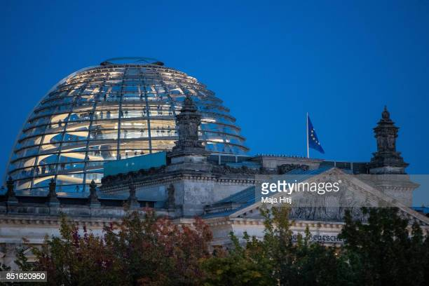 Cupola of the Reichstag seat of the Bundestag the German parliament building seat of the German lower house of parliament Bundestag in Berlin is seen...