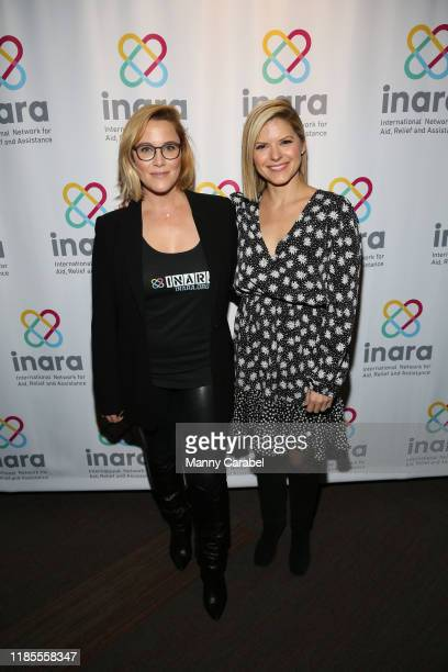 E Cupp and Kate Bolduan attend Songs For Syria at WP Theater on November 04 2019 in New York City