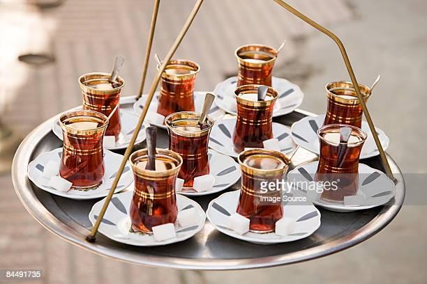 Cups of apple tea