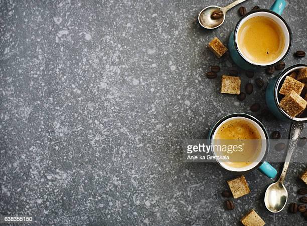 Cups of Espresso.