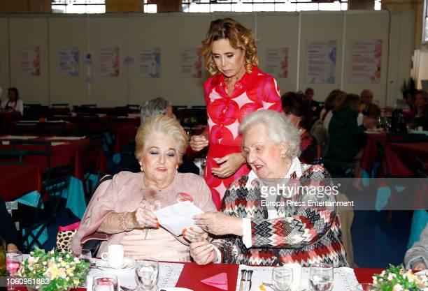 Cuqui Fierro Agatha Ruiz de la Prada and Princess Pilar de Borbon attend the charity market 'Rastrillo Nuevo Futuro' on November 10 2018 in Madrid...