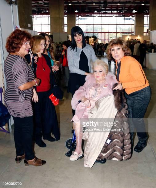 Cuqui Fierro and Irene Villa attend the charity market 'Rastrillo Nuevo Futuro' on November 10 2018 in Madrid Spain