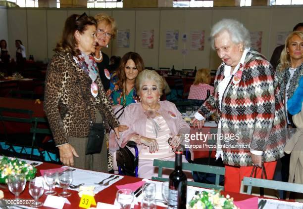 Cuqui Fierro and Princess Pilar de Borbon attend the charity market 'Rastrillo Nuevo Futuro' on November 10 2018 in Madrid Spain