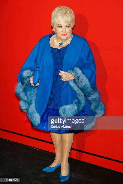 Cuqui Fierro attends dior Night party at Montalban Palace on October 17 2011 in Madrid Spain
