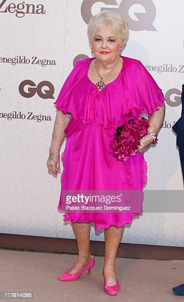Cuqui Fierro attends 'GQ Elegant Men of the Year' Awards 2011 at the Italian Embassy on June 28 2011 in Madrid Spain