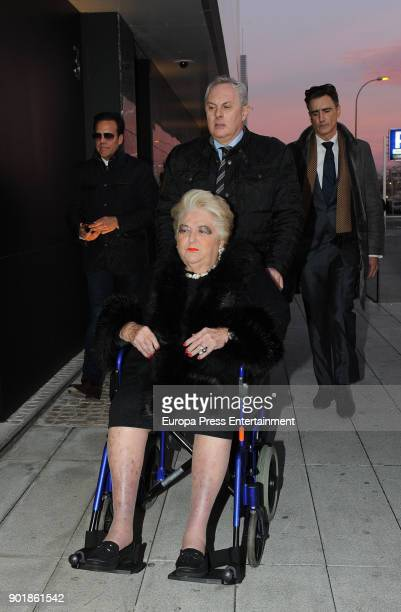 Cuqui Fierro attends the funeral chapel for Carmen Franco daughter of the dictator Francisco Franco on December 29 2017 in Madrid Spain
