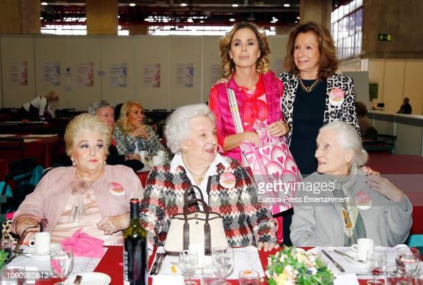 Cuqui Fierro Princess Pilar de Borbon Agatha Ruiz de la Prada and Pina Sanchez Errazuriz attend the charity market 'Rastrillo Nuevo Futuro' on...