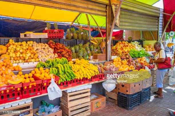 キュラソー, ウィレムスタッド - 野菜市場 - アンティル諸島 ストックフォトと画像