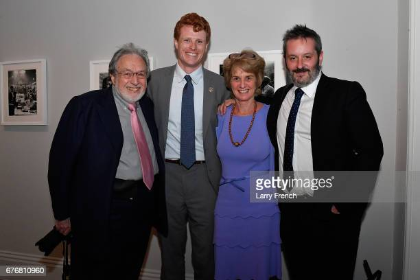Curator and exhibition organizer Larry Schiller Rep Joe Kennedy III Kathleen Kennedy Townsend and Bob Ahern Director of Archive Photography at Getty...