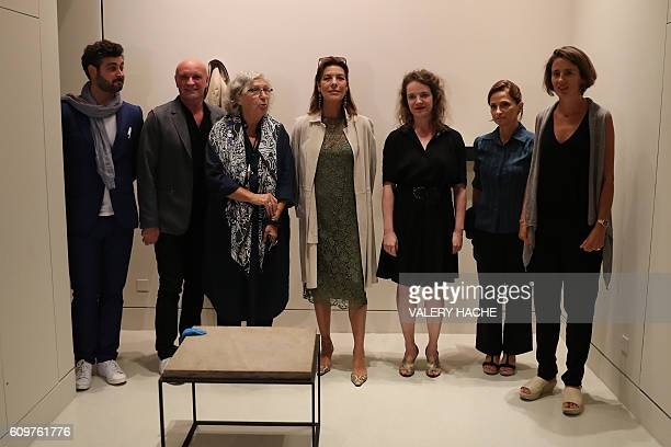 Curator Benjamin Laugier French choreographer JeanChristophe Maillot museum director MarieClaude Beaud Princess Caroline of Hanover French artist...