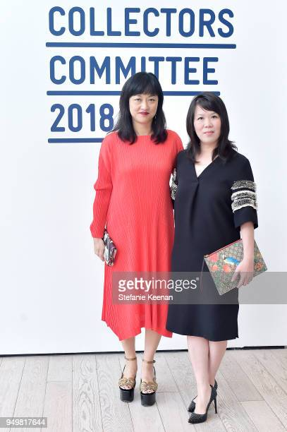 Curator Christine Y Kim and Thao Nguyen attend LACMA 2018 Collectors Committee Gala at LACMA on April 21 2018 in Los Angeles California