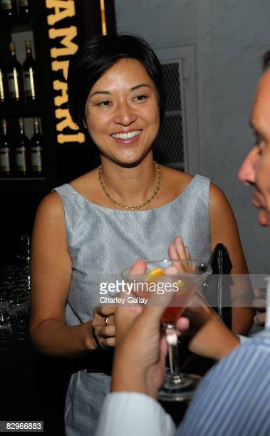 Curator Christine Y Kim attends the House Of Campari presentation of Kara Tanaka's Dissolver At LAXART on September 20 2008 in Los Angeles California