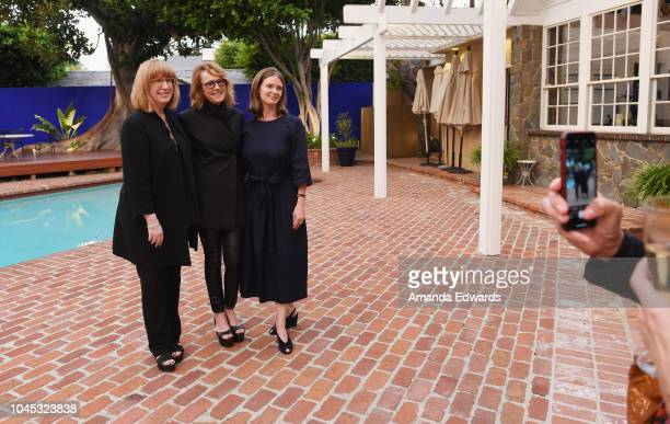 Curator Cynthia Burlingham, UCLA Hammer Museum Director Ann Philbin and curator Allegra Pesenti attend a reception honoring Philbin hosted by the...