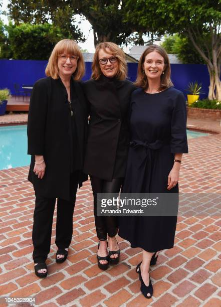 Curator Cynthia Burlingham UCLA Hammer Museum Director Ann Philbin and curator Allegra Pesenti attend a reception honoring Philbin hosted by the...
