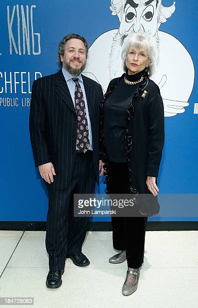 Curator David Leopold and Louise Kerz Hirschfeld attend the VIP reception of The Line King Al Hirschfeld At The New York Public Library at The New...