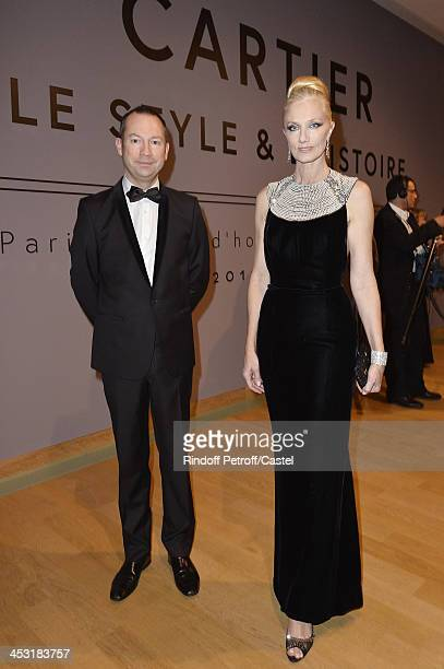 Curator of the exhibition Laurent Salome and Actress Joely Richardson attend the 'Cartier Le Style et L'Histoire' Exhibition Private Opening at Le...