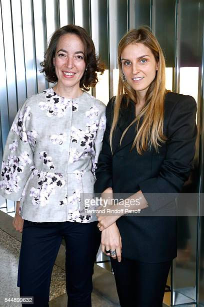 Curator of the museum of the fashion Pamela Golbin and Creative director of the Italian jewellery brand Repossi Gaia Repossi attend the Repossi...