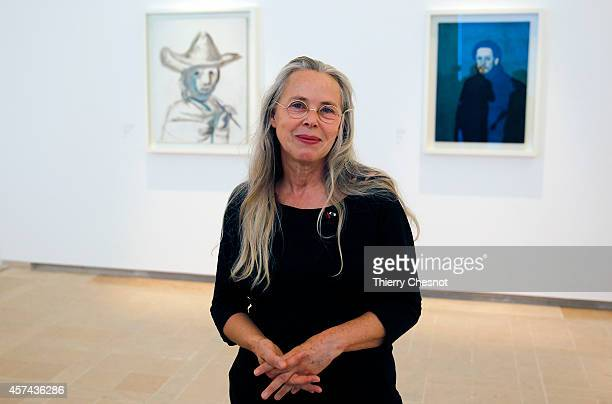 Curator of the Picasso exhibition Anne Baldassari poses at the Picasso Museum inside the Hotel Sale which was renovated to house the art works during...