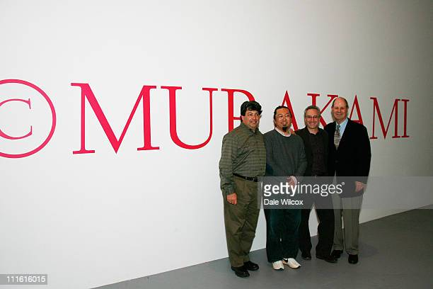 Curator Paul Schimmel Takashi Murakami Jeremy Strick and Cliff Einstein attend a special talk to commemorate the closing of the Murakami Exhibition...