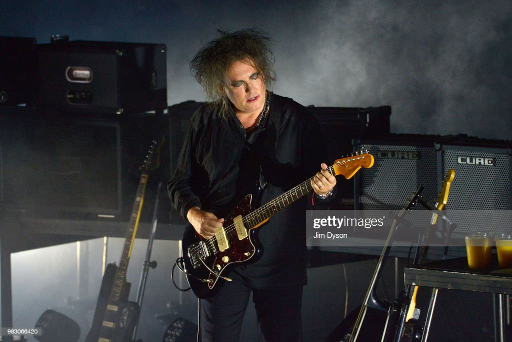 The Cure Perform During Robert Smith's Meltdown At Royal Festival Hall : News Photo