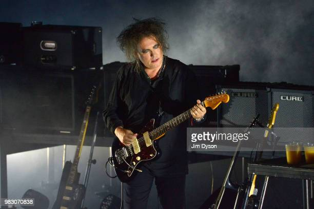 Curator Robert Smith of The Cure performs live on stage during CURÆTION25 as part of his Meltdown Festival at The Royal Festival Hall on June 24 2018...