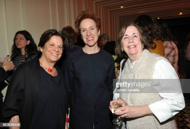 Curator Stephanie Barron Chief Curator of Painting and Sculpture at MoMA Ann Temkin and Phyllis Tuchman attend MOCA's Leadership Circle and Members'...