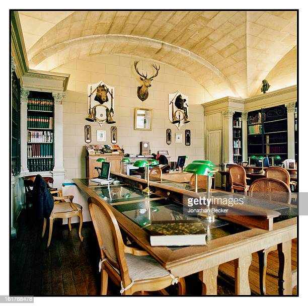 A curatorial office is photographed for Vanity Fair Magazine on June 11 2011 at Chateau de Chantilly in Chantilly France The offices house a highly...