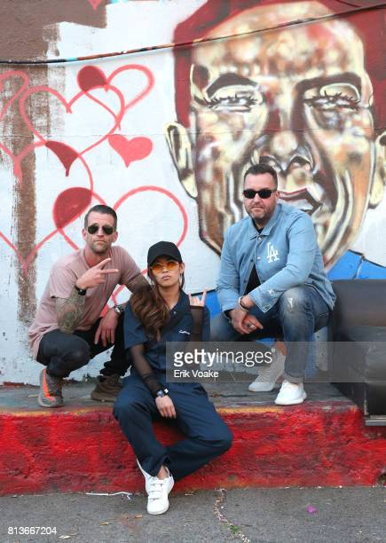 Curators Brian Willette, Marilyn Hue, and Cole Younger at adidas NMD presents Forever Developing on July 12, 2017 in Los Angeles, California.