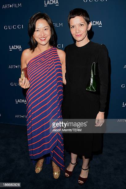 Curators Christine Y Kim and Rita Gonzalez attend the LACMA 2013 Art Film Gala honoring Martin Scorsese and David Hockney presented by Gucci at LACMA...