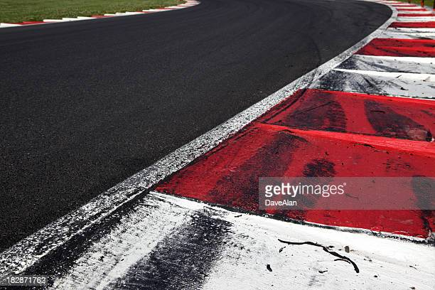 fia curb on a motorsports race track - curb stock pictures, royalty-free photos & images
