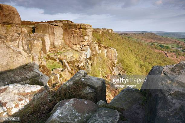 Curbar Edge Derbyshire 2009 Curbar Edge is a gritstone outcrop in the Peak District The area is popular with walkers and rock climbers