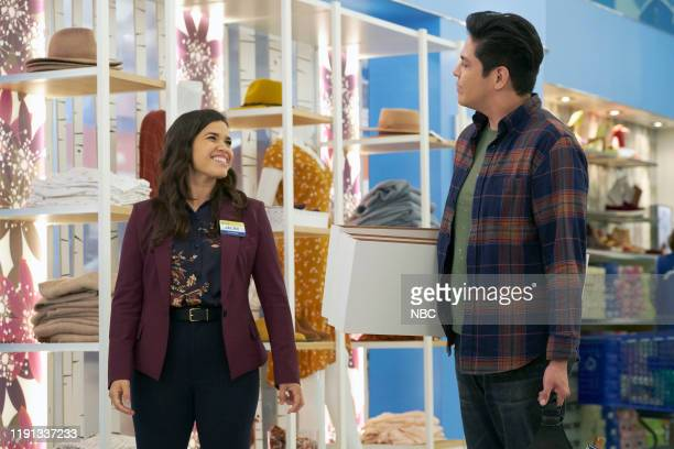 SUPERSTORE Curbside Pickup Episode 509 Pictured America Ferrera as Amy George Salazar as Eric