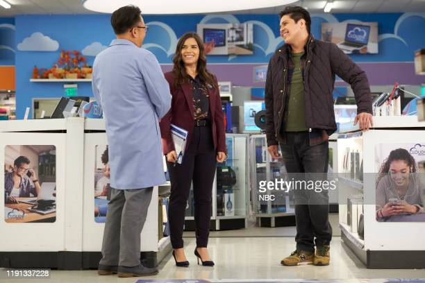 SUPERSTORE Curbside Pickup Episode 509 Pictured Nico Santos as Mateo America Ferrera as Amy George Salazar as Eric