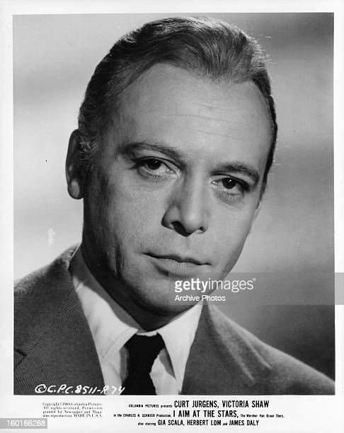Curd Jürgens in publicity portrait for the film 'I Aim At The Stars' 1960
