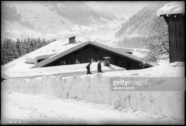 Curd Juergens' chalet in Gstaad 1971