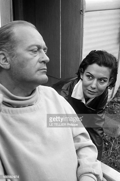 Curd Jurgens Marries Simone Bicheron. Allemagne Fédérale- 17 Septembre 1958- Dans la forêt Rhénane, lors d'un tournage, l'acteur de cinéma autrichien...