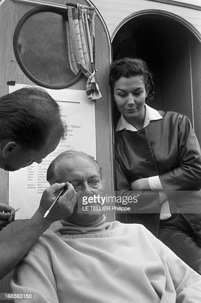 Curd Jurgens Marries Simone Bicheron. Allemagne Fédérale- 17 Septembre 1958- Dans la forêt Rhénane, l'acteur de cinéma autrichien et allemand, Curd...