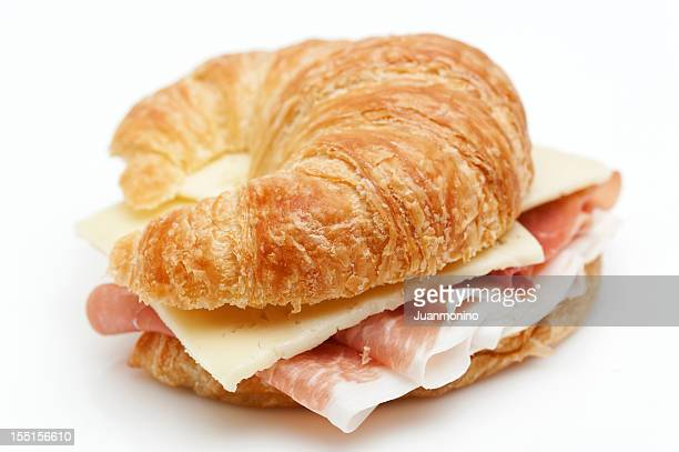 Cured Ham and Cheese Croissant Sandwich