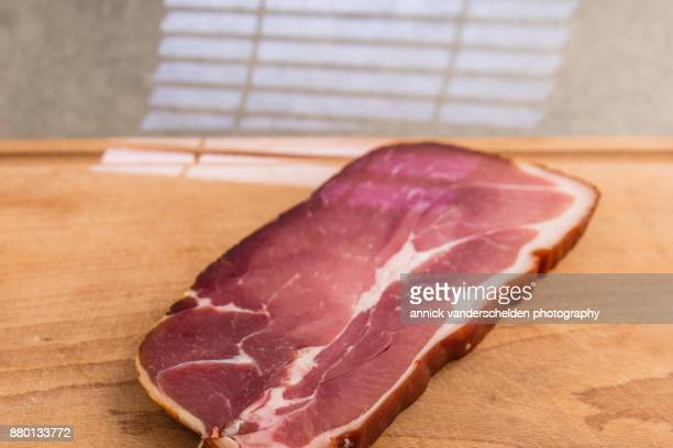 Cured ham from Bruges.
