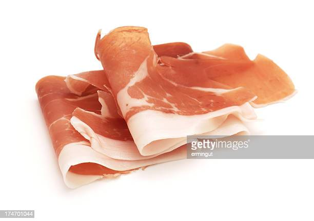 Cured Ham - Prosciutto isolated on white