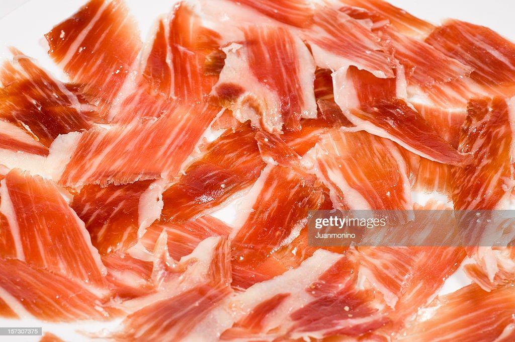 Cured Spanish Serrano Ham : Stock Photo