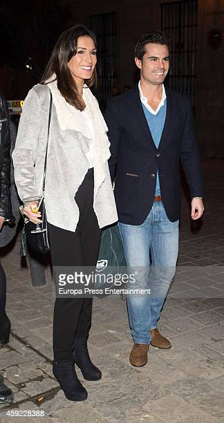 Curi Gallardo and Veronica Hidalgo attend Glint Agency launch party on November 18 2014 in Madrid Spain