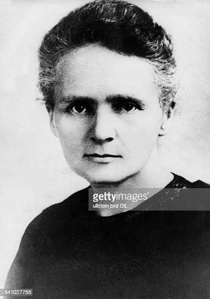 Curie Marie *07111867Wissenschaftlerin Physikerin Chemikerin Polen/Frankreich Nobelpreisträgerin Portrait undatiert