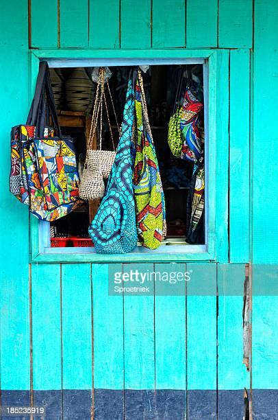 Curio goods in Kigali a shopfront window