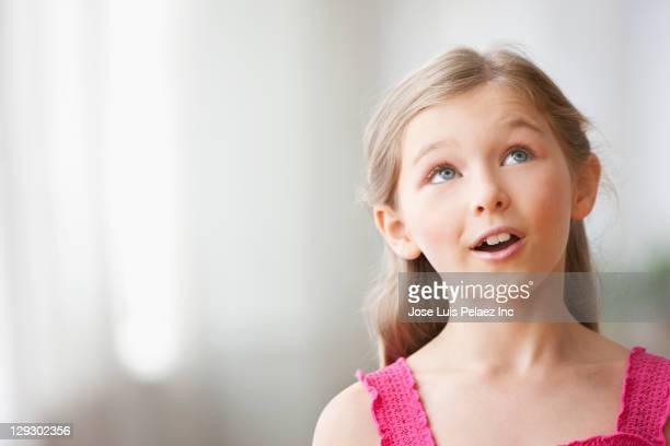 Curious Caucasian girl