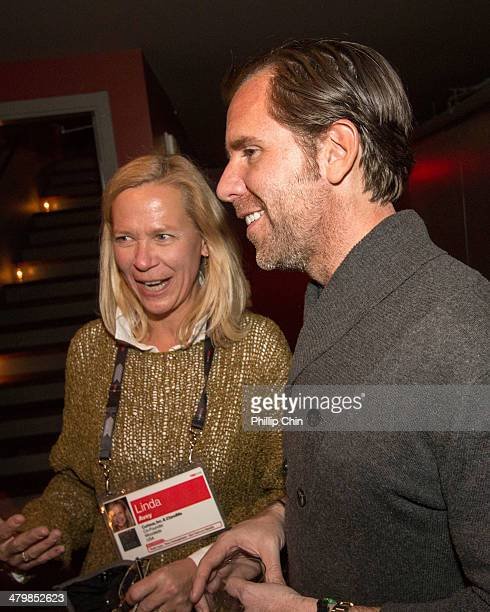 Curious Inc and 23andMe Cofounder Linda Avery attends Wired editorinchief Scott Dadich's private dinner at the Wilderbeest Restauran at TED on...