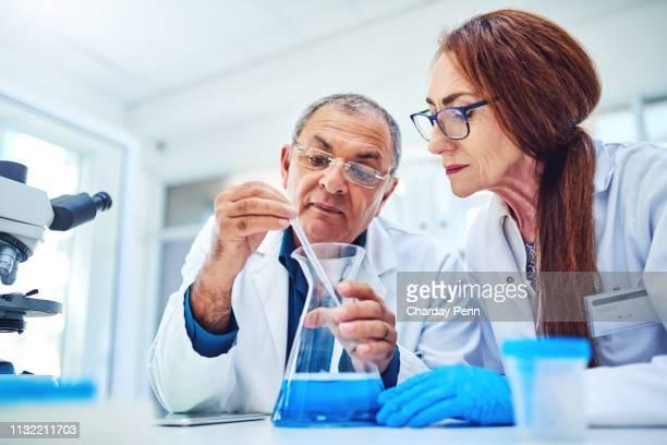 curious minds think alike - bioquímico imagens e fotografias de stock