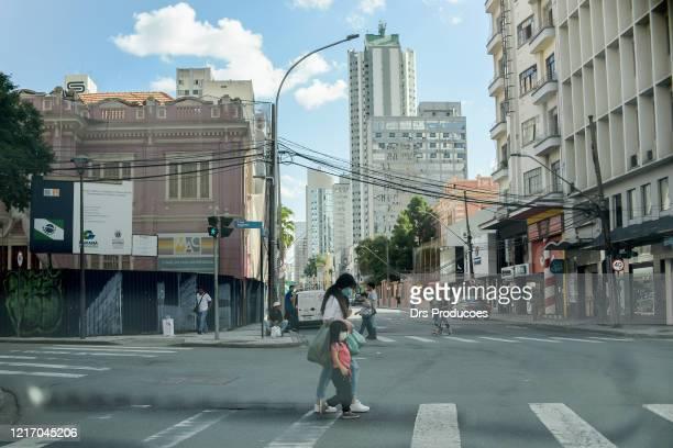 curitiba city center, brazil. - curitiba stock pictures, royalty-free photos & images