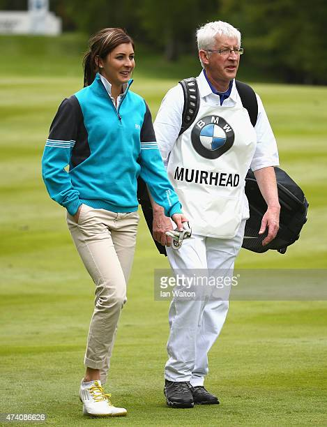 Curler Eve Muirhead looks on during the ProAm ahead of the BMW PGA Championship at Wentworth on May 20 2015 in Virginia Water England