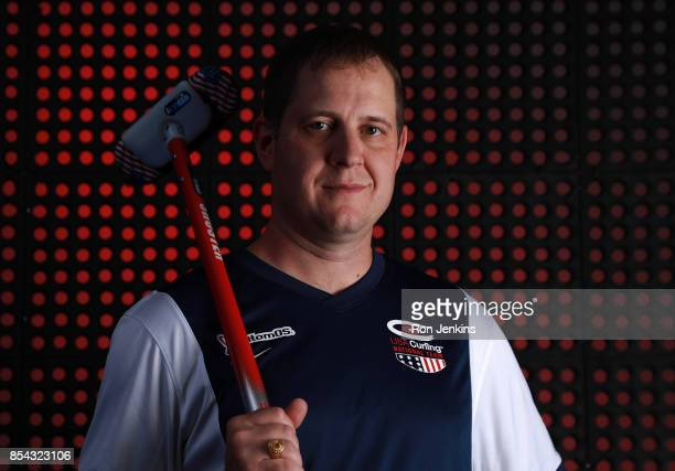 Curler John Shuster poses for a portrait during the Team USA Media Summit ahead of the PyeongChang 2018 Olympic Winter Games on September 26 2017 in...